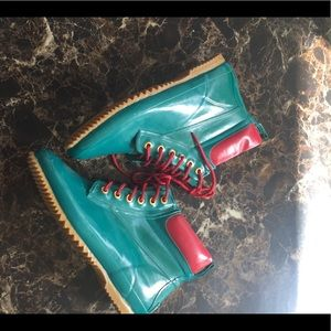 Sporto ankle rubber boots